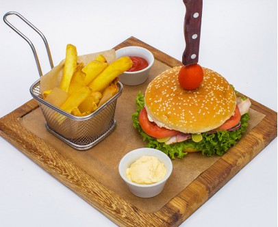 Гамбургер с котлетой из говядины